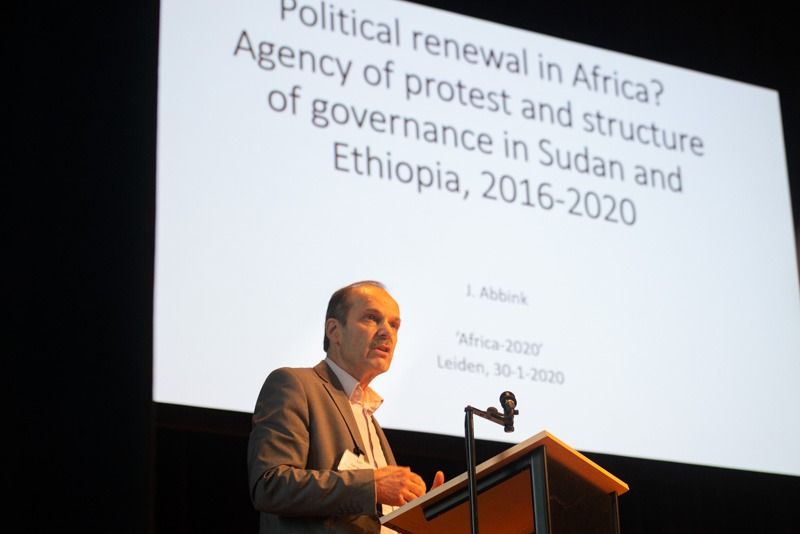 Jan Abbink, ASCL/ Leiden University, on the protests in Sudan and Ethiopia leading to regime change. Will we see lasting political stability in these countries? Photo: Eelkje Colmjon.