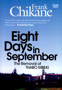 book cover Eight days in September: the removal of Thabo Mbeki