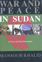 book cover war and peace in Sudan