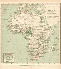 Map of Africa (Die Erschliessung Afrikas durch Eisenbahnen)