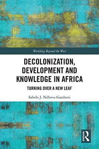 "book cover ""Decolonization, development and knowledge in Africa"""