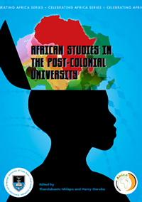 "book cover ""African studies in the pos-colonial universities"""