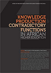 "book cover ""Knowledge production contradictionary functions in African higher education"""