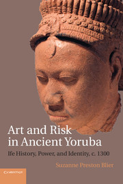 "book cover ""Art and risk in ancient Yoruba"""