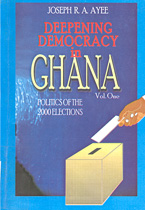 book cover Deepening democracy in Ghana