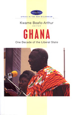book cover Ghana One decade of the liberal state