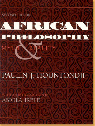 book cover African philosophy: myth &r eality