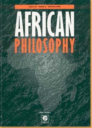 cover African Philosophy Journal