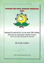 book cover Raising productivity levels and alleviating poverty in Tanzania