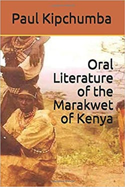 "book cover ""Oral literature of the Marakwet of Kenya"""