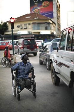 Wheelchair in traffic