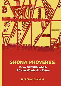 "book cover ""Shona proverbs"""
