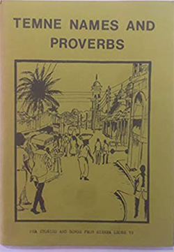 "book cover ""Temne names and proverbs"""