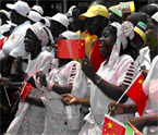 photo Chinese flags in Africa