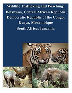 "Book cover ""Wildlife trafficking and poaching"""
