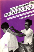 book cover Self-employment for disabled people