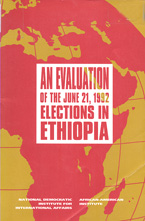 book cover An evaluation of the June 21, 1992 elections in Ethiopia