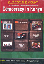 book cover Democracy in Kenya