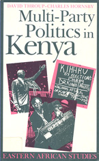 book cover Multiparty politics in Kenya