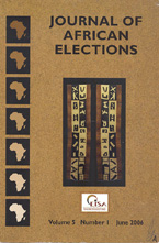 Journal of African Elections (cover)