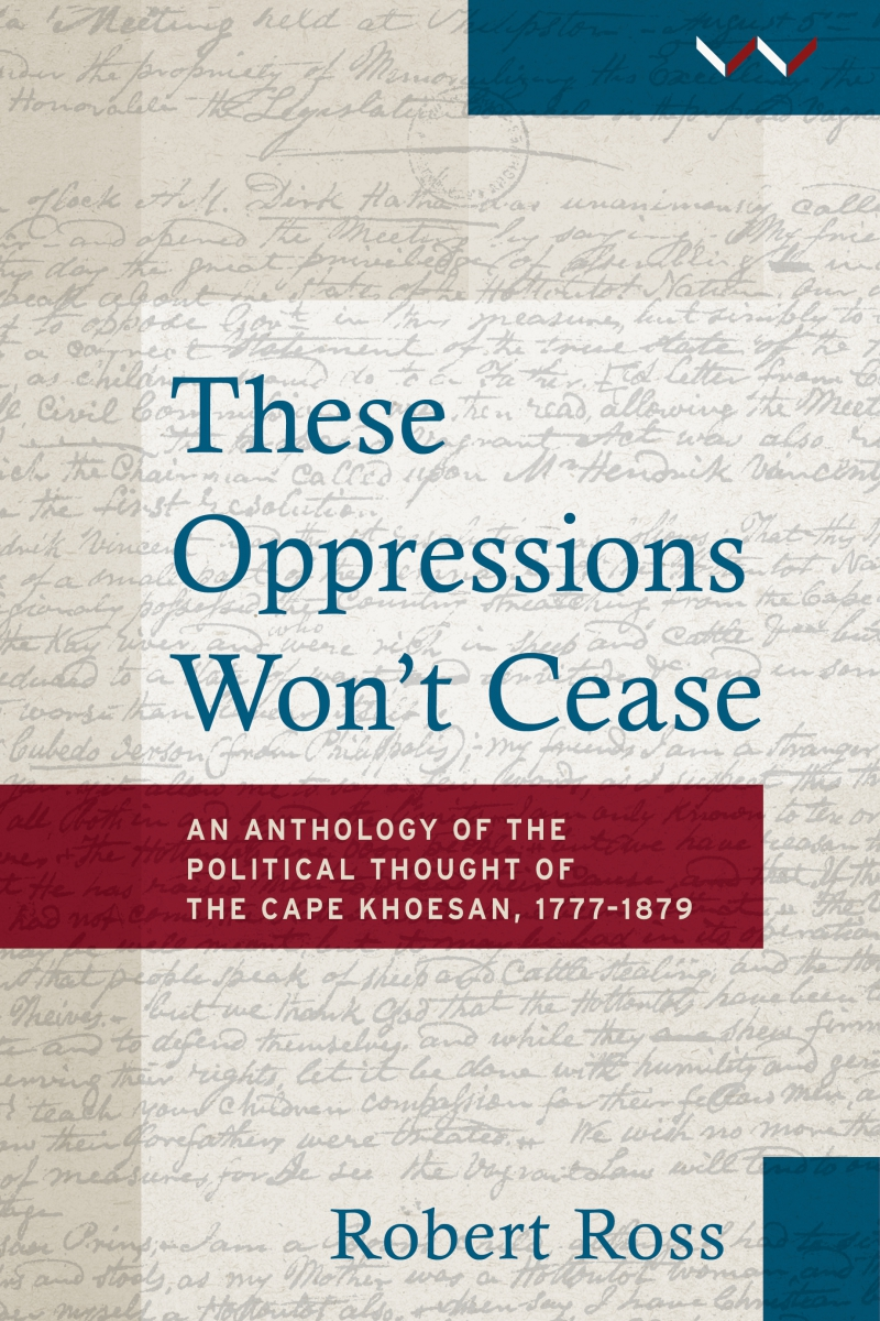 Book cover These oppressions won't cease