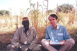 Klaas van Walraven and  Djaouga Idrissa  (near  Dargol, 31-10-05). © Klaas van Walraven (ASC Leiden). Photo by Issa Younoussi