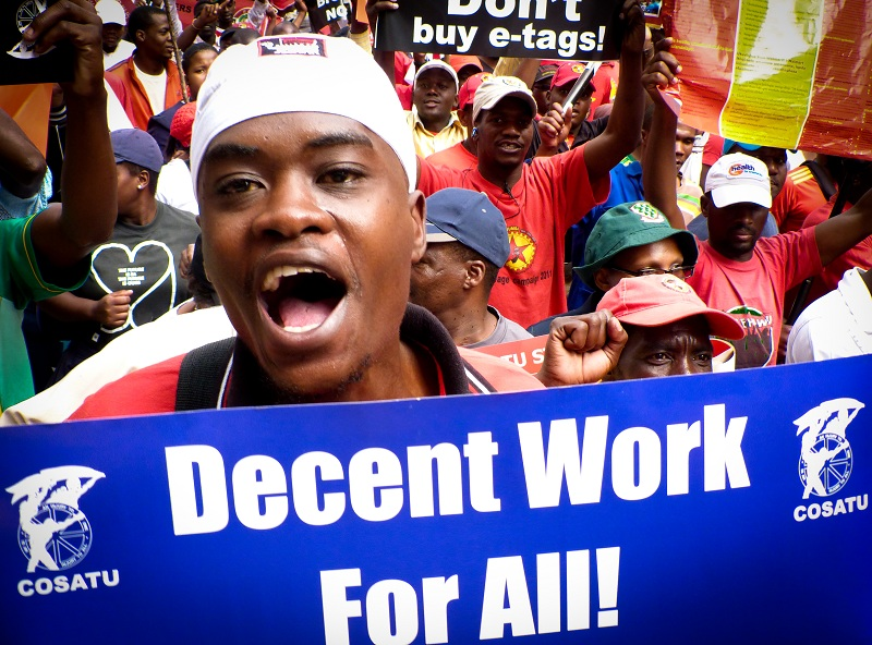 Cosatu decent work for all March