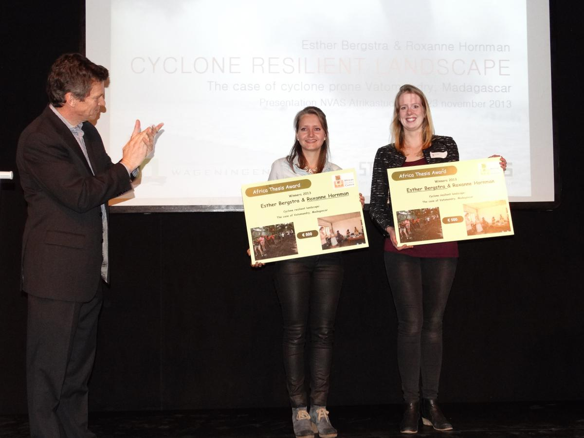 Presentation of Africa Thesis Award 2013