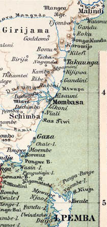 Map Kenya Coast