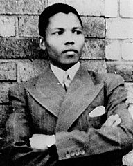 Photo of a young Mandela