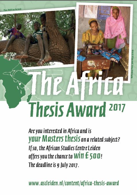 Flyer Africa Thesis Award 2017