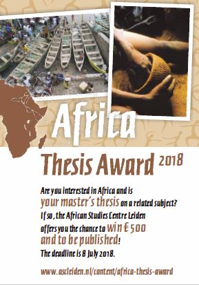 Flyer Africa Thesis Award 2018