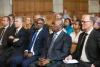 Ambassadors with Prof. Jan-Bart Gewald, director ASCL. © Eelkje Colmjon-African Studies Centre Leiden