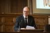 Master of Ceremonies Prof. Jan-Bart Gewald, director ASCL. © Eelkje Colmjon-African Studies Centre Leiden
